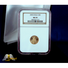 2005 W $5 Gold Eagle NGC MS-70