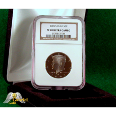 2005 S Kennedy Silver Clad Proof Dollar NGC PF-70