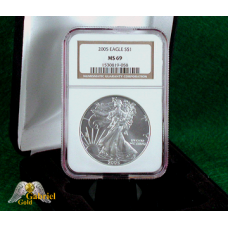 2005 P $1 Silver Eagle NGC MS-69