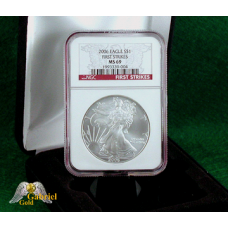 2006 P $1 Silver Eagle NGC FS, MS-69