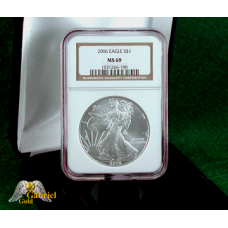 2006 P $1 Silver Eagle NGC MS-69