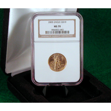 2005 W $10 Gold Eagle NGC MS-70