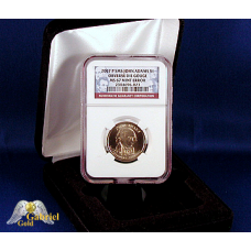 2007 P J. Adams Obverse Die Error NGC MS-67