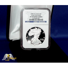 2008 W $1 Silver Eagle Proof NGC PF-70 ER