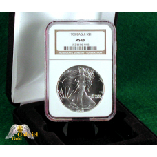 1988 American Silver Eagle NGC MS-69