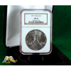1991 American Silver Eagle NGC MS-69