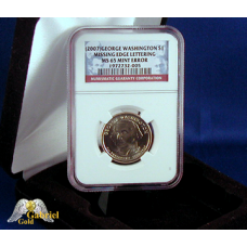 2007 P G. Washington $ Missing Edge Let NGC MS-65