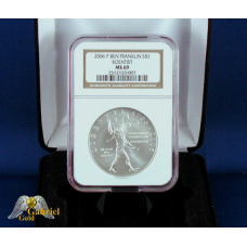 2006 P Ben Franklin Silver $ (Scientist) NGC MS-69