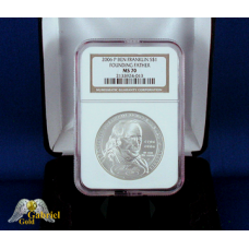 2006 P Ben Franklin Silver $ (Founder) NGC MS-70