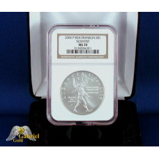 2006 P Ben Franklin Silver $ (Scientist) NGC MS-70
