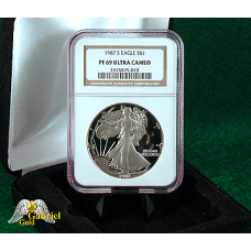 1987 S American Silver Eagle NGC PF-69