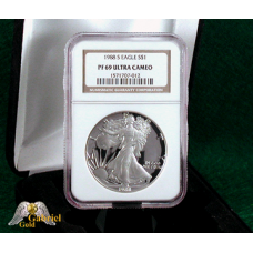 1988 S American Silver Eagle NGC PF-69