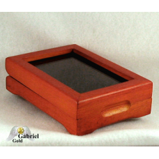 Redwood Finished Glass Top Certified Coin Storage Box