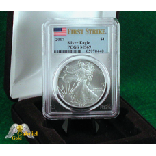 2007 P $1 Silver Eagle PCGS MS-69 FS
